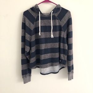Roxy Striped Pullover Hoodie Large